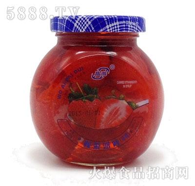 晶海糖水草莓罐头255克
