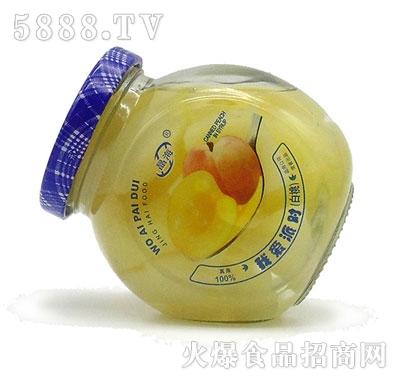 晶海糖水白桃罐头255克