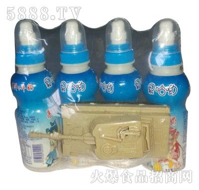 果哈呦玩具果汁+牛奶