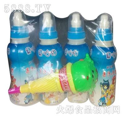 果哈呦玩具果汁牛奶200mlX4瓶