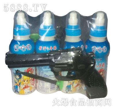 果哈呦玩具手枪果汁牛奶200mlX4瓶