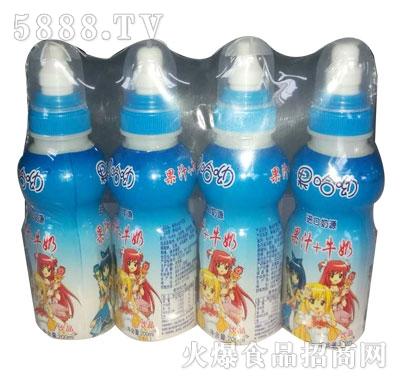 果哈呦果汁牛奶200mlX4瓶