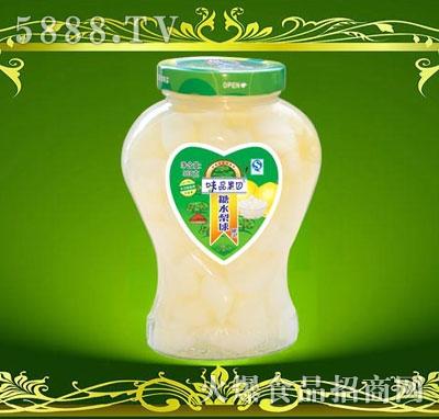 味品果园糖水梨球罐头968g