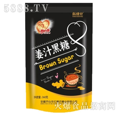 开心乐红糖坊姜汁黑糖360g