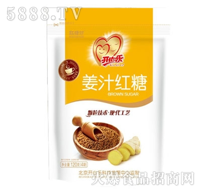 开心乐红糖坊姜汁红糖120g(4袋)