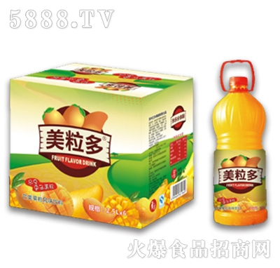 2.5Lx6美粒多芒果果粒风味饮料