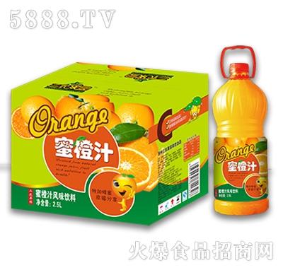 2.5L三农果园蜜橙汁风味饮料