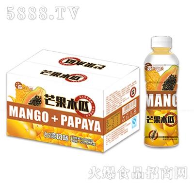 500mlx15瓶森果印象芒果木瓜饮料