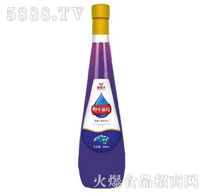 828ml握握手野生蓝莓汁饮料