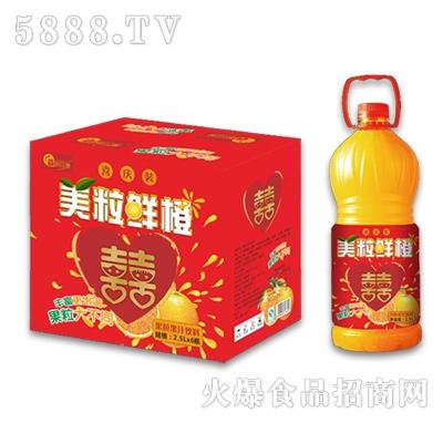 2.5Lx6瓶美粒鲜橙果粒果汁饮料