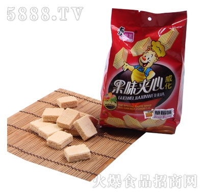 麦世发果味夹心威化饼干(200g