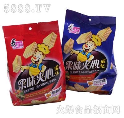 麦世发果味夹心威化饼干(200g)