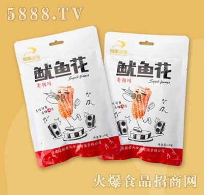 闽南鱼港鱿鱼花香辣味48g