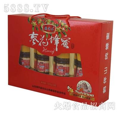 鹤伴山枣花蜂蜜320克x4瓶礼盒装