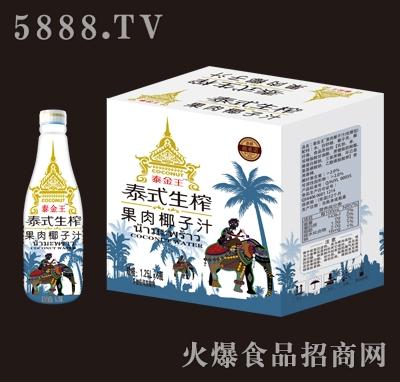 泰金王泰式生榨果肉椰子汁1.25Lx6瓶