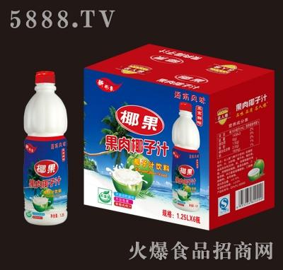 名人缘椰果果肉椰子汁1.25Lx6瓶