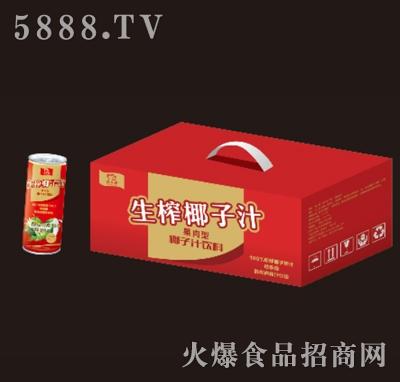 名人缘生榨椰子汁245mlx16罐