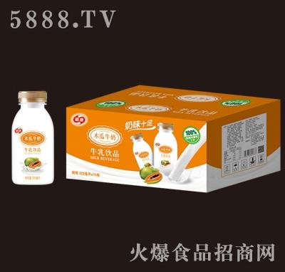 植康木瓜牛奶320mlx15瓶产品图