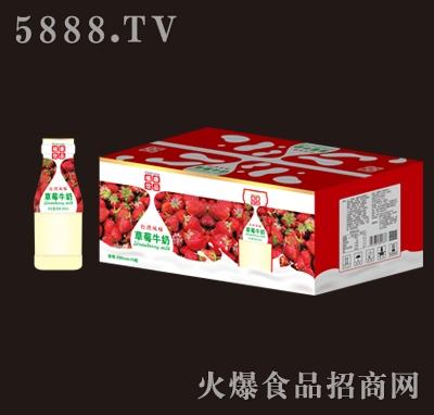 植康草莓牛奶280mlx15瓶