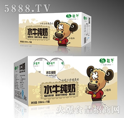 桂牛水牛纯牛奶200mlx15盒