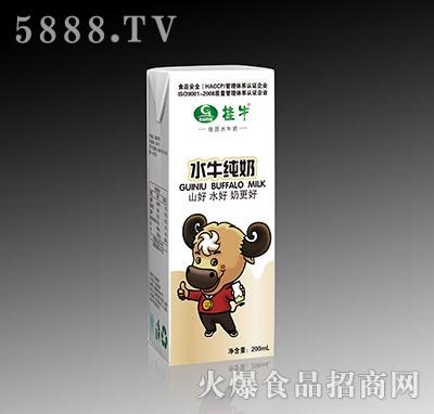 桂牛纯牛奶盒装200ml