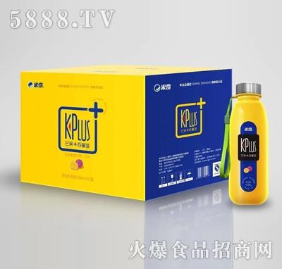 米奇KPlus+ 芒果+西番莲复合果汁饮料408ml×12瓶