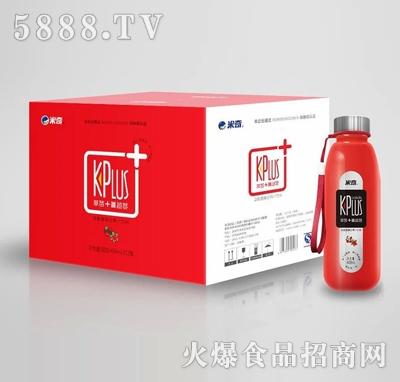 米奇KPlus+ 草莓+蔓越莓复合果汁饮料408ml×12瓶