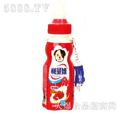 200mlx24瓶能量娃儿童成长风味饮料草莓味