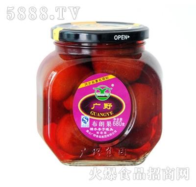 广野糖水李子罐头680g