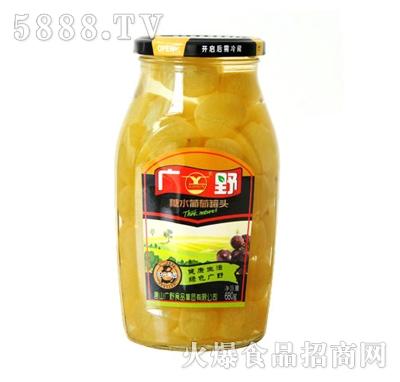 广野糖水葡萄罐头680g