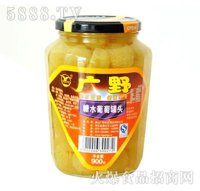 广野糖水葡萄罐头900g