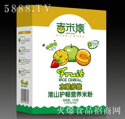吉米熊水果多维淮山护畅营养米粉(苹果味)250g