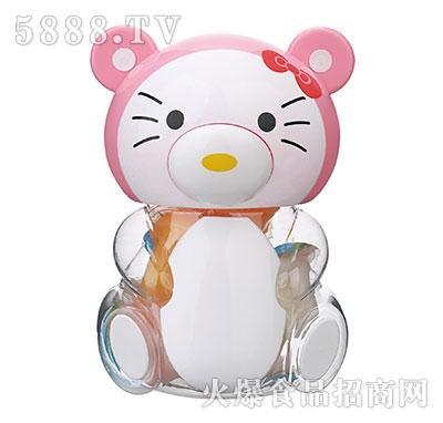 150g白色小猫卡通玩具果冻产品图