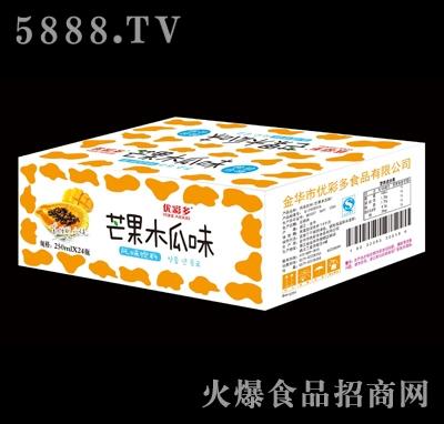 250mlx24瓶优彩多芒果木瓜味风味饮料