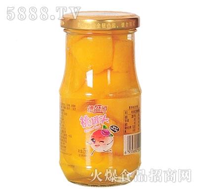 德盛恒桃罐头256g产品图