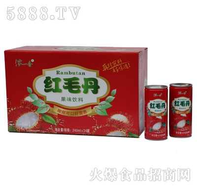 GZ06浓一香高拉罐红毛丹规格1-24-240ml
