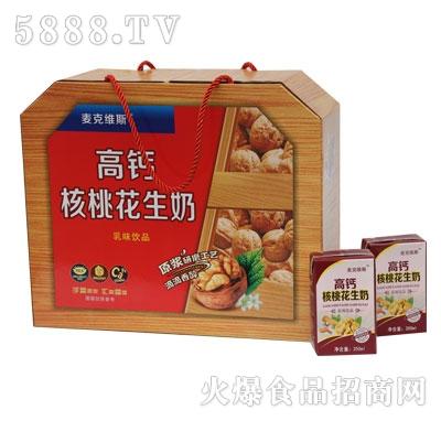 SL02麦克维斯高钙核桃花生奶枕式木礼盒规格250ml-16-4