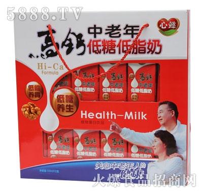 ZL04心懿高钙中老年低脂低糖奶双开窗礼盒规格250ml-12-5