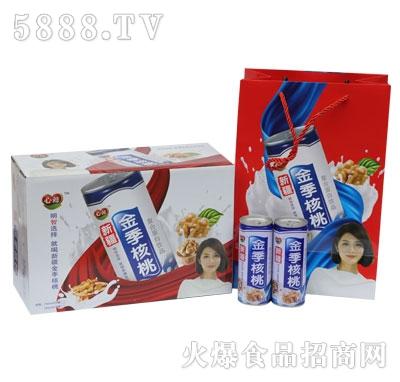 ZG03植物蛋白心懿高拉罐金季核桃奶   规格1-20-240ml
