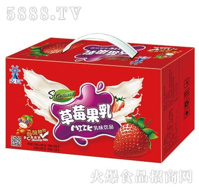 麦夏草莓果乳