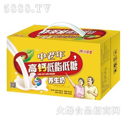 川府雪中老年高钙低脂低糖养生奶
