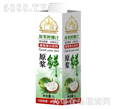 广旺原浆鲜椰汁1L