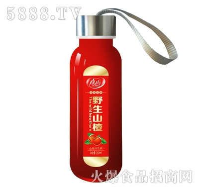 真心野生山楂汁350ml果汁饮料