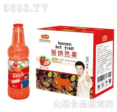 伊思源版纳热果草莓味饮料1.5Lx6瓶