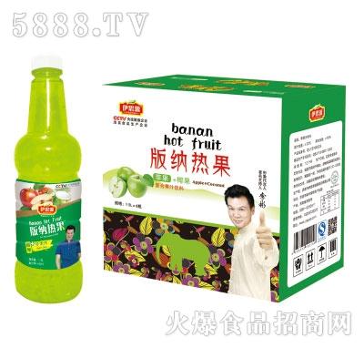 伊思源版纳热果苹果味饮料1.5Lx6瓶