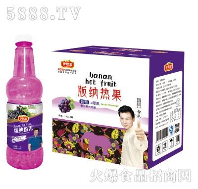 伊思源版纳热果葡萄味饮料1.5Lx6瓶