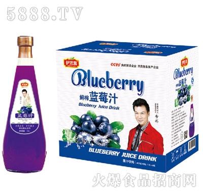 伊思源鲜榨蓝莓汁饮料1.5Lx6瓶