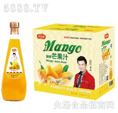 伊思源鲜榨芒果汁饮料1.5Lx6瓶