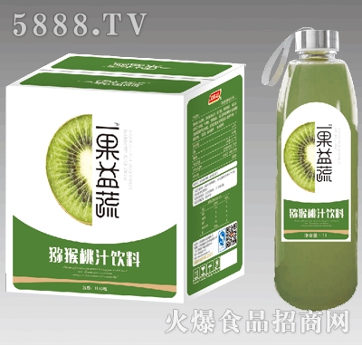 1lx6瓶一果益蔬猕猴桃汁
