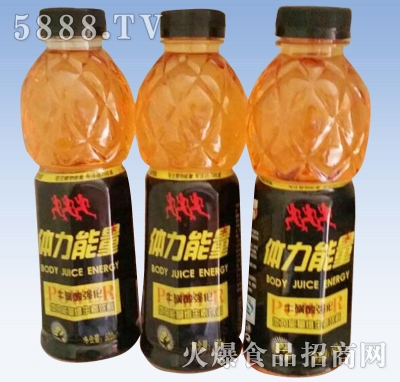 600ml体力能量牛磺酸维生素饮料产品图